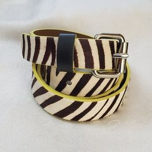 LOFT Zebra Haircalf Belt sz M #1287